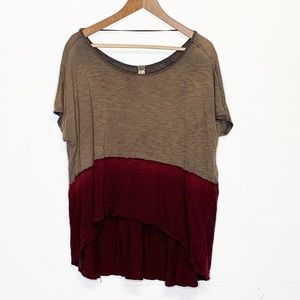 We The Free Short Sleeve Ombre Oversized Top